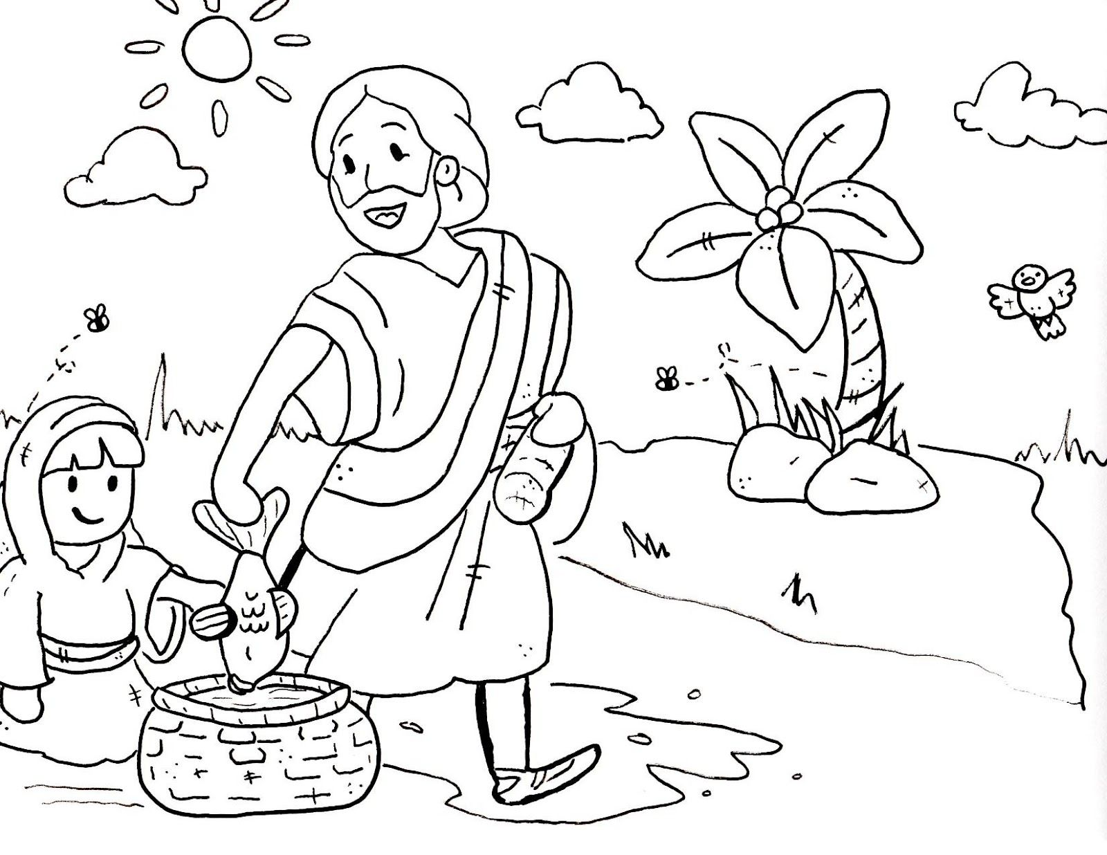 bible crafts coloring pages - photo#14