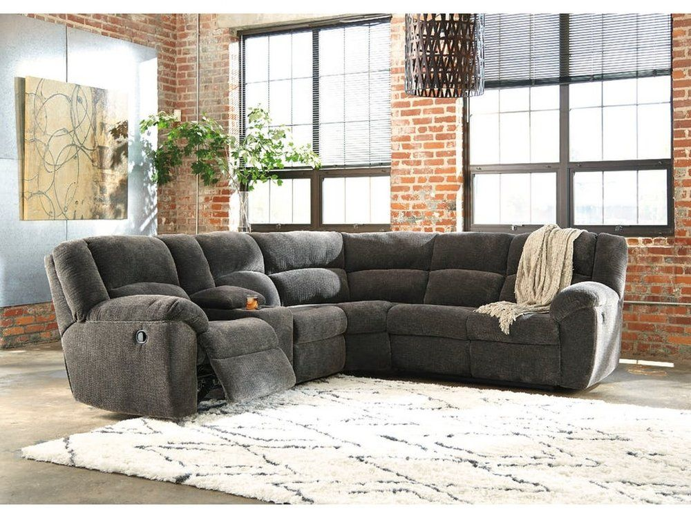 Benchcraft 6190149 Timpson Right Arm Facing Reclining Loveseat Slate Sectional Sofa With Recliner Power Reclining Sectional Sofa Reclining Sectional