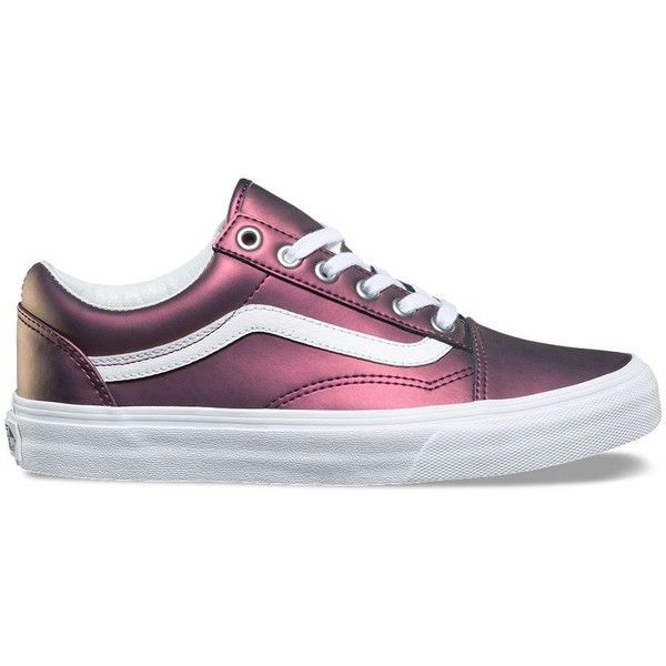 new styles 0b0a1 7fb6a Vans Muted Metallic Old Skool (1,210 MXN) ❤ liked on Polyvore featuring  shoes, sneakers, purple, vans sneakers, lace up sneakers, purple shoes, ...