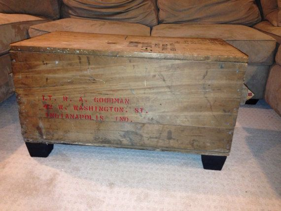 1940s wwii shipping crate coffee table | shipping crates, crates