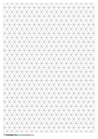 Triangle Grid Paper Isometric Graph Paper Grid Paper Isometric Grid