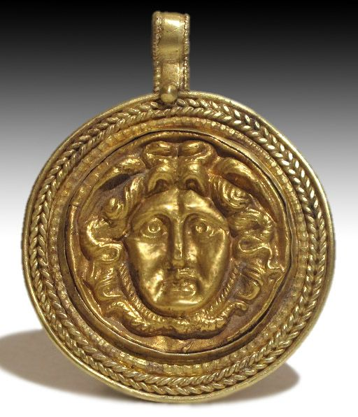 Roman Gold Pendant Head of Medusa This and more important