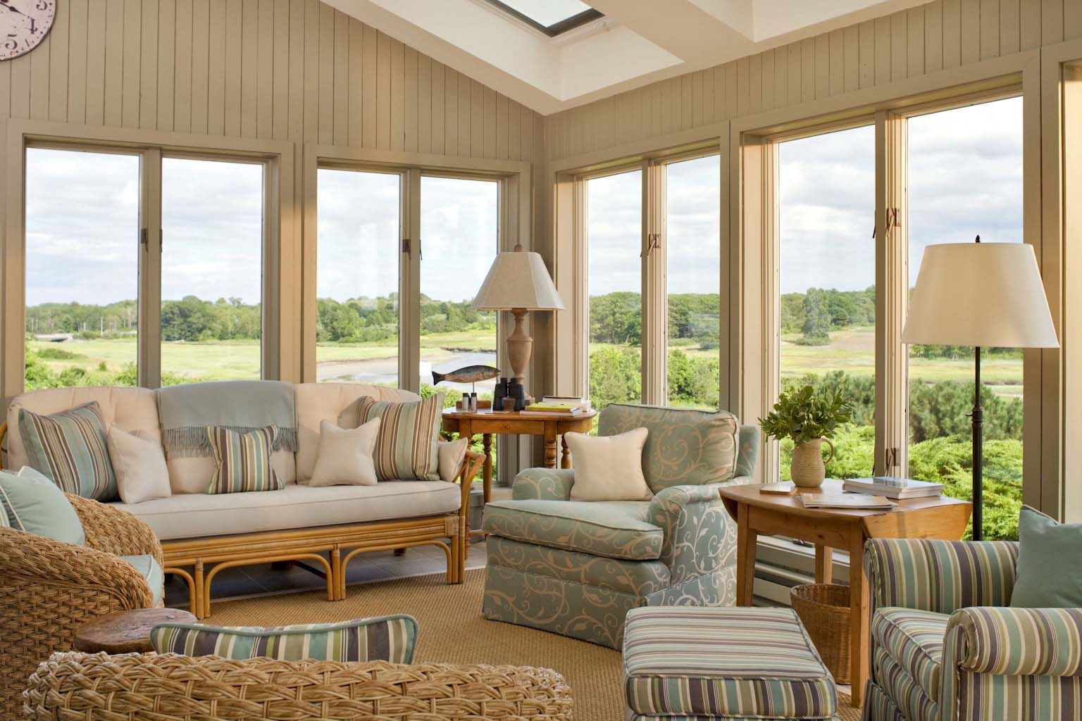 modern sunroom furniture. Adorable Interior Country Modern Neutral Beige Brown Sunroom Design Theme With Big Glass Window Setting And Lovely Calm Colored Furniture Se.