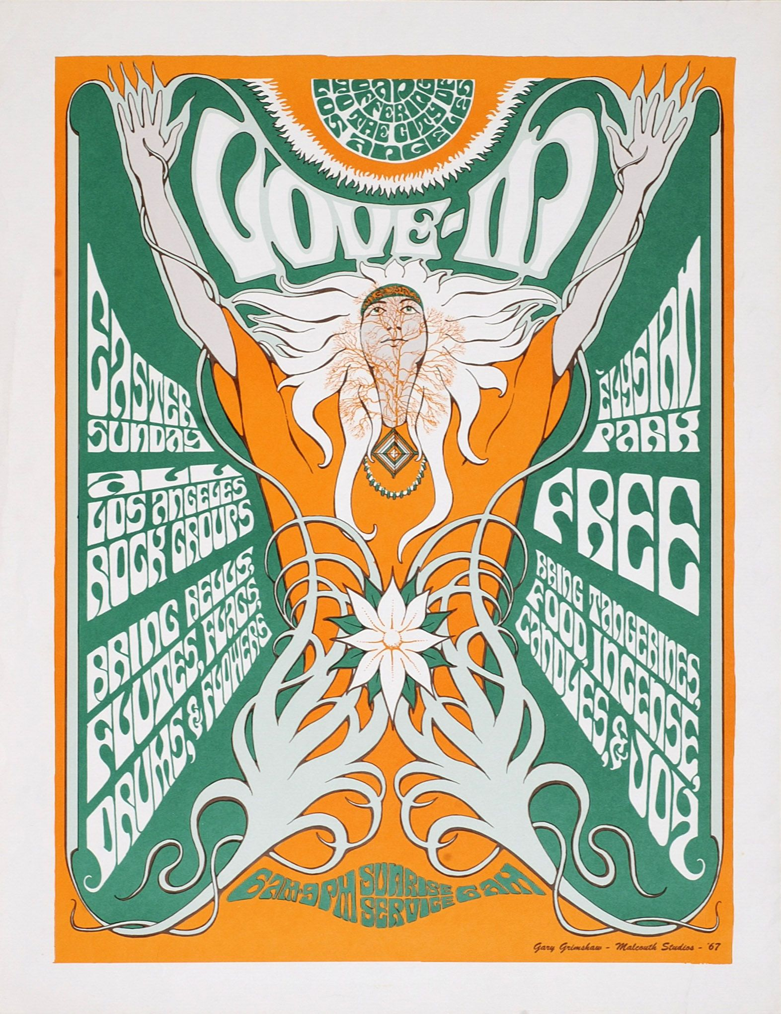 Poster By My Friend Gary Grimshaw The 1960s In Ann Arbor Michigan