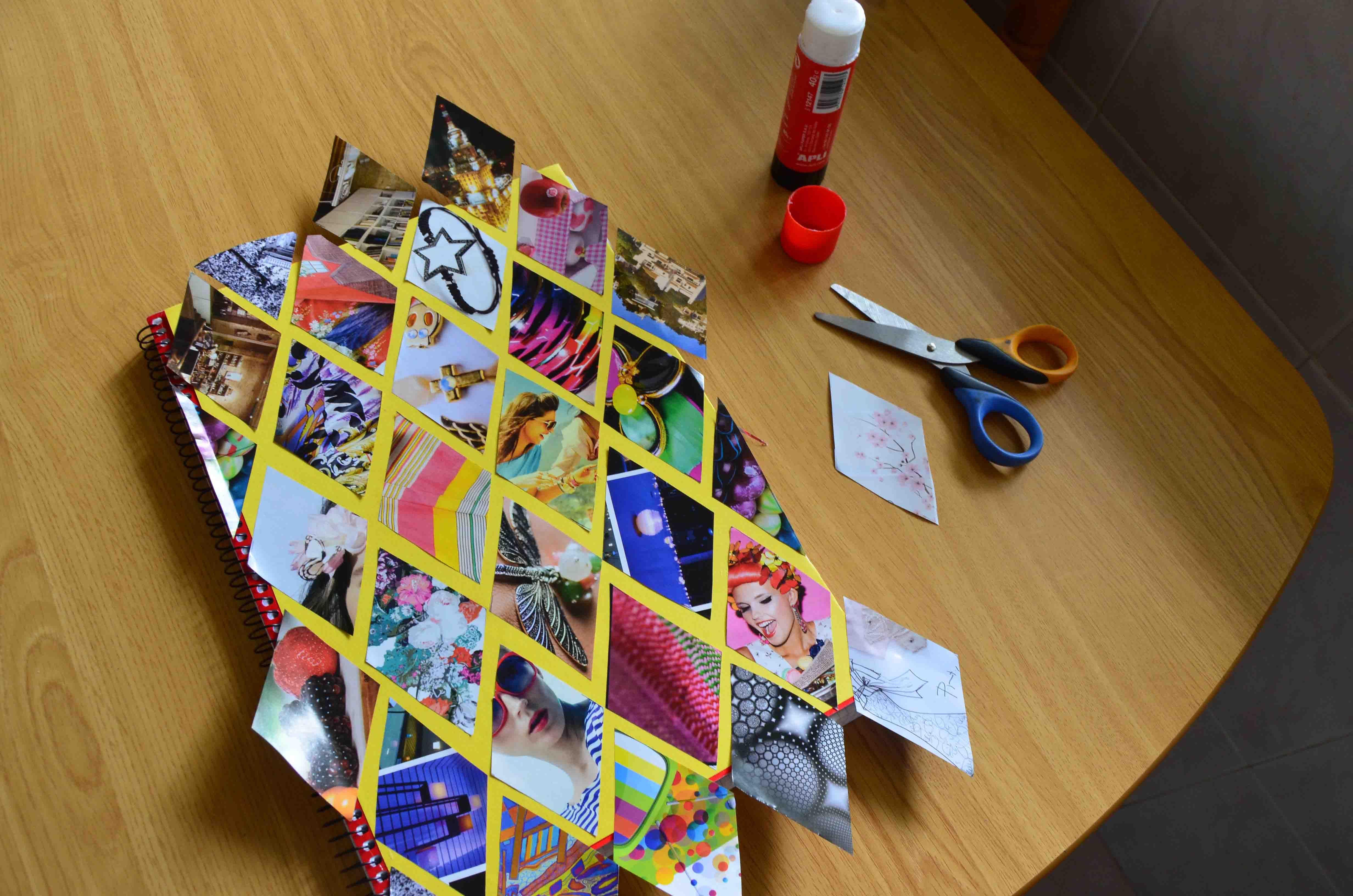Como hacer una linea del tiempo creativa con hojas - Como adornar una cartulina ...