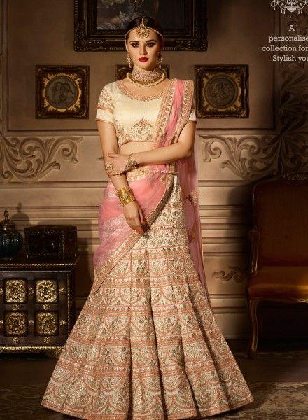 14198e48ac Stylish designer look Beige Reception wear lehenga choli | Bridal ...