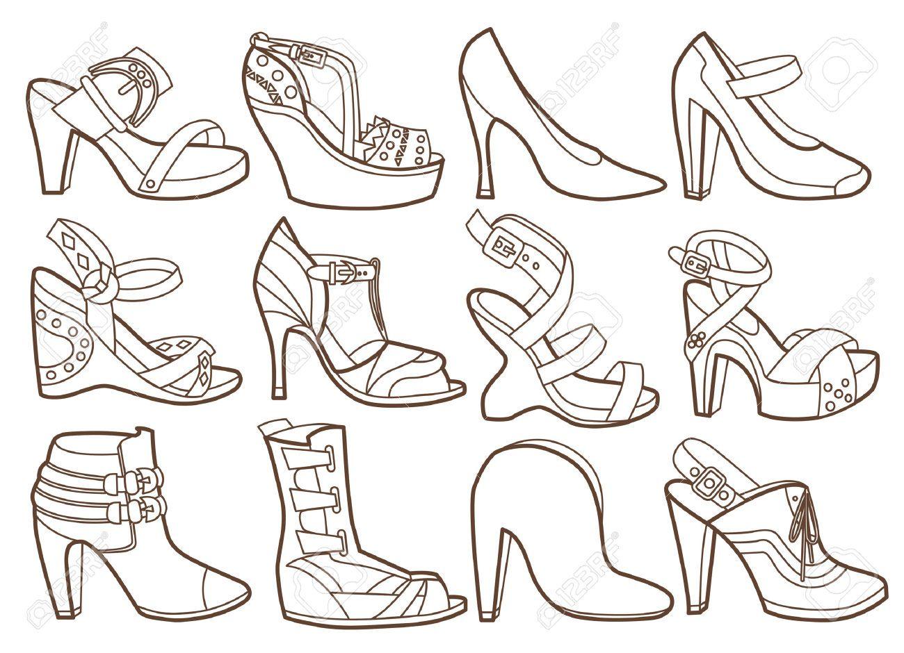 coloriage | chaussures | Pinterest | Dibujos para pintar, Pintar y ...