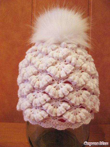 Crochet Beanie Hat With Pompom Crochet Hats Pattern Easy Crochet Hat