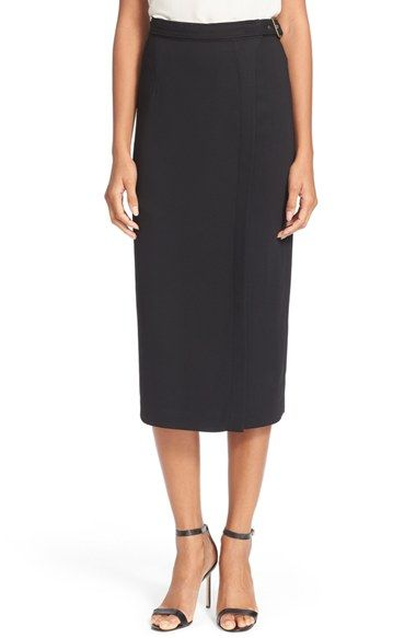 Tracy Reese Crepe Belted Surplice Skirt (Nordstrom Exclusive) available at #Nordstrom