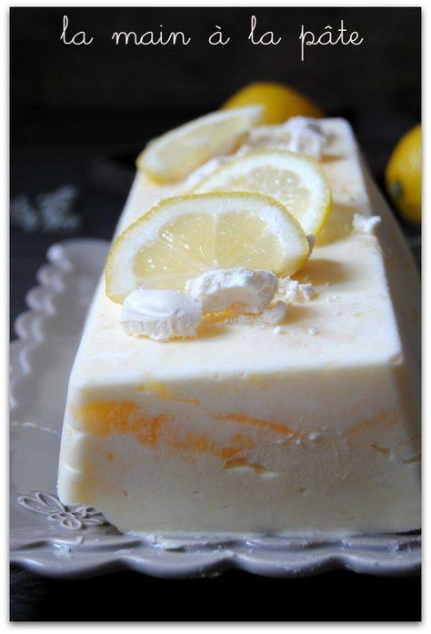 parfait glac meringu au citron recette no l. Black Bedroom Furniture Sets. Home Design Ideas