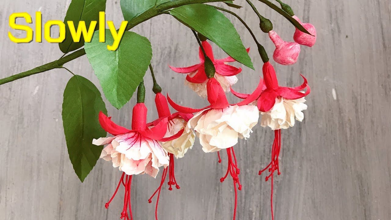 ABC TV | How To Make Double Fuchsia Paper Flower With Shape Punch (Slowly) - Craft Tutorial