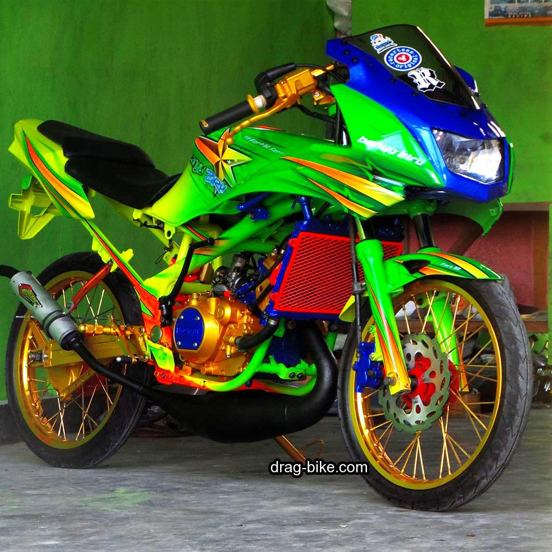 Gambar Motor Ninja Rr Modifikasi Airbrush Kawasaki Ninja Ninja