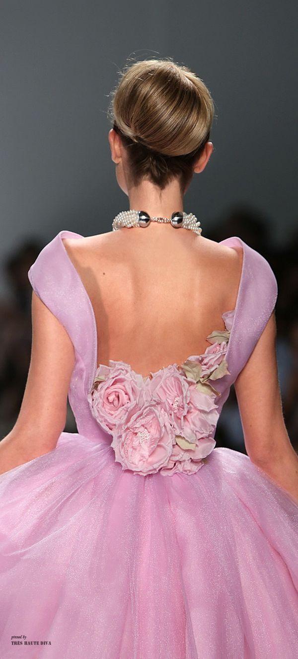 flower back | Vestidos fiesta | Pinterest | Rosas, Vestido de gala y ...