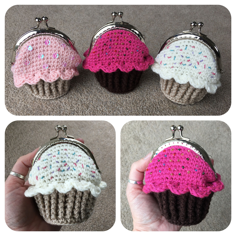 Cupcake Coin Purse Crochet Pattern | Little Things | Pinterest ...