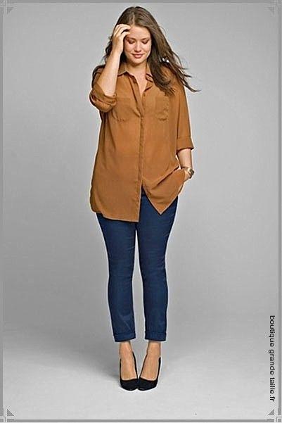 b9b3a1acf0555 La chemise indémodable, ici en voile marron légèrement transparent ...