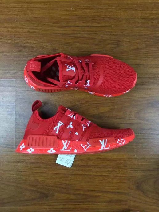 4011c5a650d4d Cheap 2017 New Colorways LV X Adidas NMD Runer All Red Red October ...