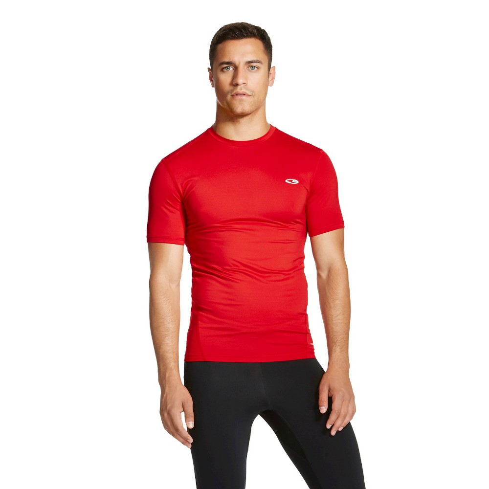47d53580a7a5 Men s Powercore Compression Shirt - C9 Champion Ripe Red Xxl  Apparel   Activewear  ActivewearShirts  ActivewearTeeShirts