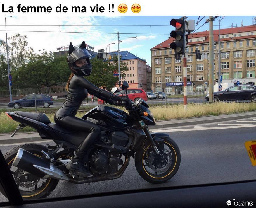Panneaux Humour Foozine (128)   Humour motard, Bikeuse, Image drôle insolite
