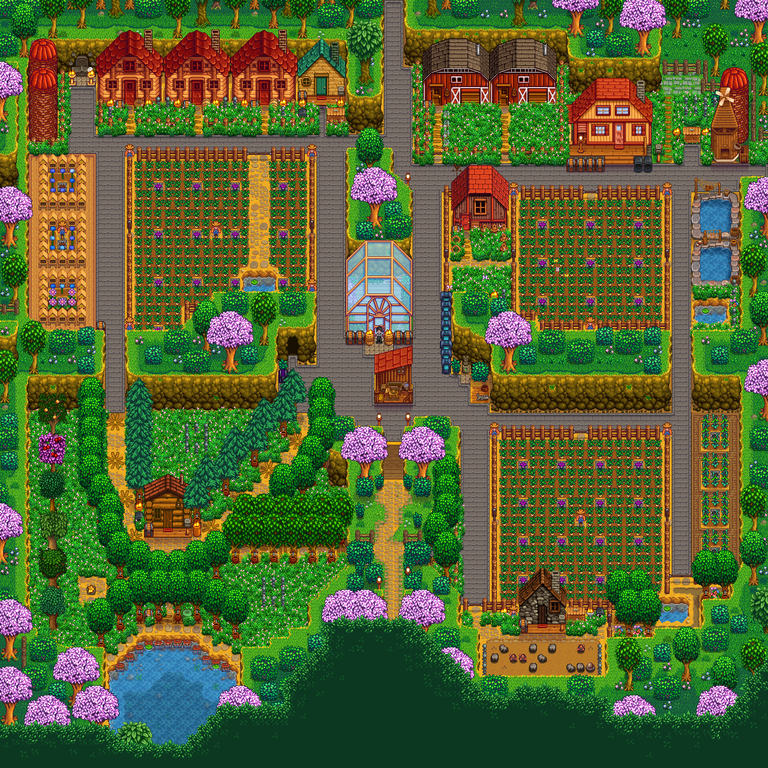 Here S My Plan For A Multiplayer Four Corners Farm Suggestions Welcome Farmsofstardewvalley Stardew Valley Farms Stardew Valley Farm Layout