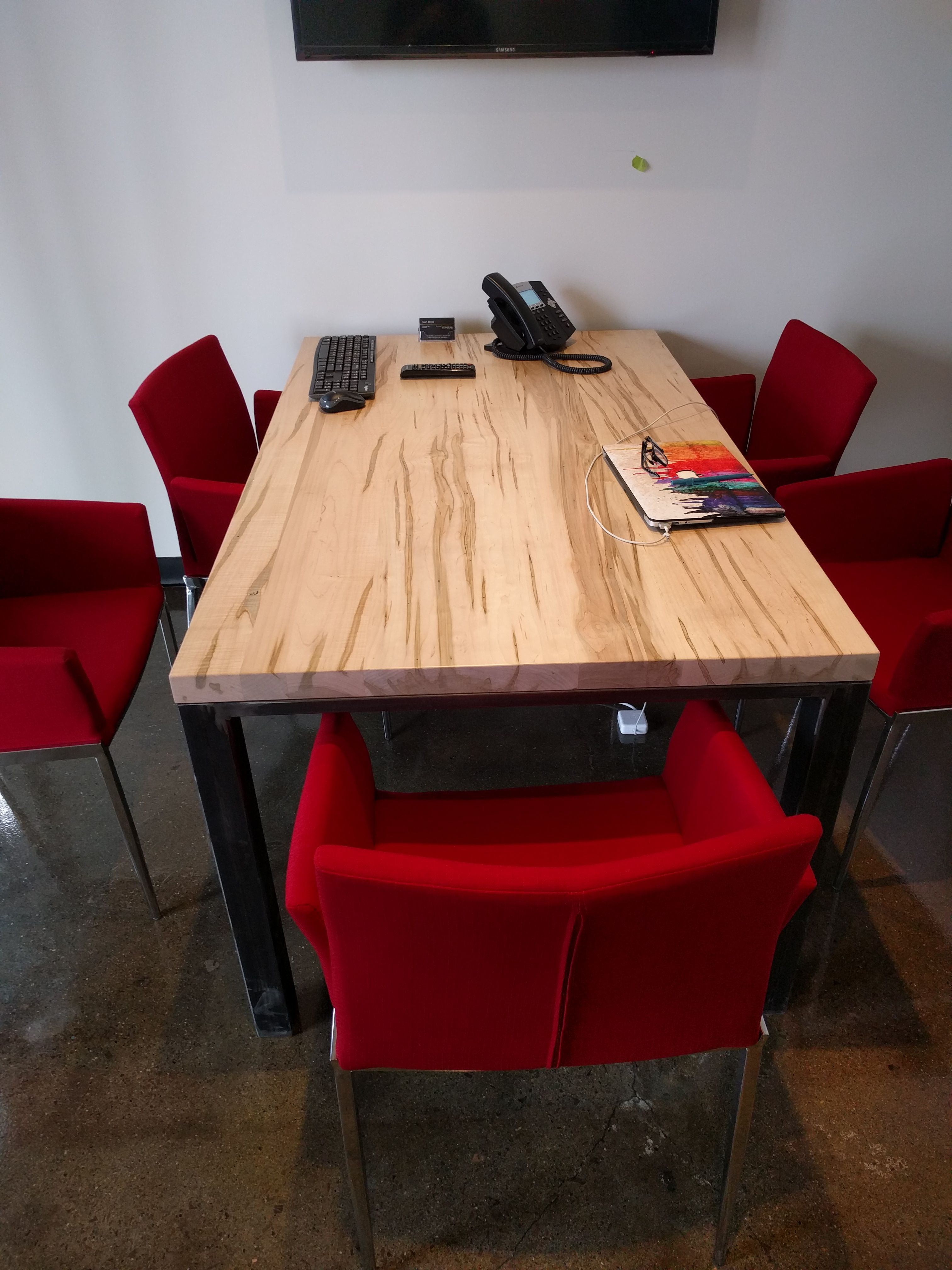 Meeting room table by barnboardstore.com for the new ...