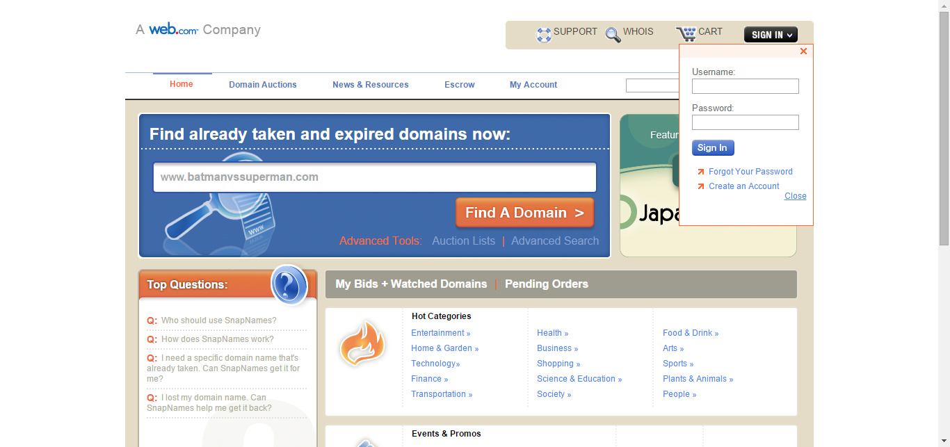 Find Already Taken and Expired Domains Domain Name