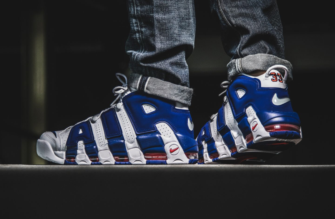 5730603d104 The Nike Air More Uptempo Knicks Drops Tomorrow | Celebrity style ...