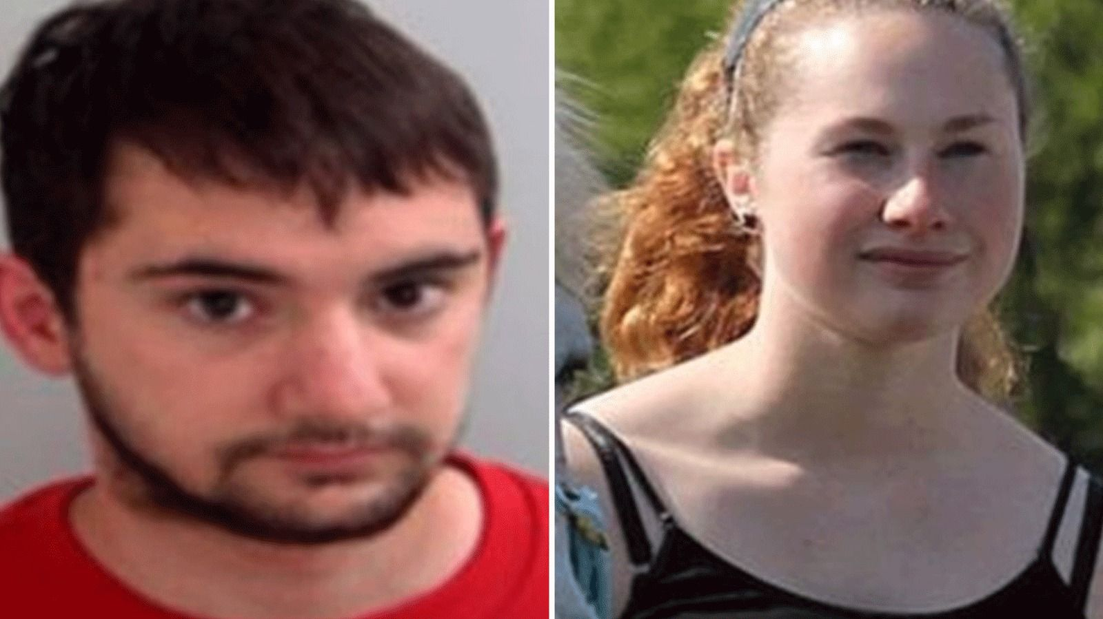 """A man who murdered his girlfriend by stabbing her 80 times when she broke up with him has been jailed for life.   Jordan Taylor, 22, was told he would serve a minimum of 23 years for the """"brutal and vicious killing"""" of Laura Davies in July last year.   The attack was so forceful that the knife Taylor used was bent to a 45-degree angle."""