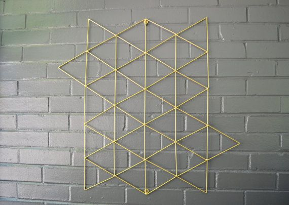 Geometric Metal Wall Art ships now! triangle art geometric steel metal wall 3d decor modern