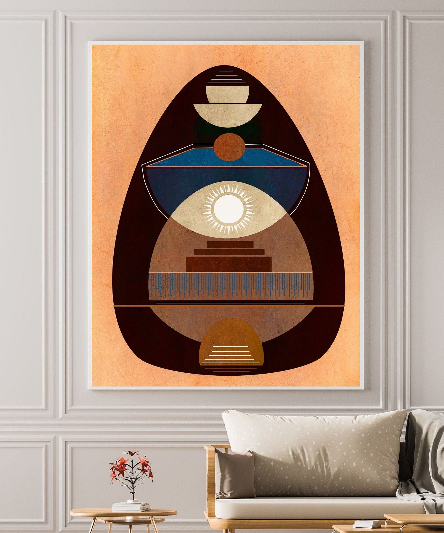 Southwestern Wall Art Instant Download Indian Art Print Large Abstract Wall Art Di Southwestern Wall Art Mid Century Wall Art Wall Art Instant Download
