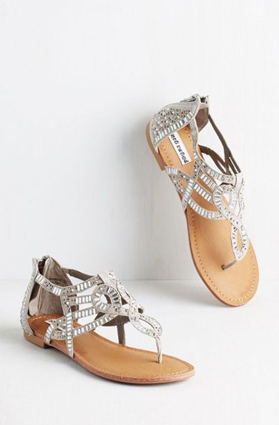 e01bfe2ccff587 All That Glitters is Bold Sandal in Grey