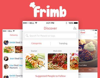 Food recipe sharing app frimb behance design pinterest food recipe sharing app frimb forumfinder Image collections