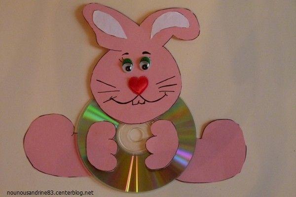 Activit manuelle lapin cd animaux sous toutes ses - Activite manuelle recyclage ...