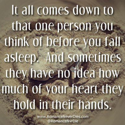 It all comes down to that one person you think of before you