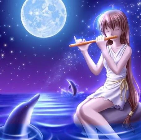 Pianosoftware Anime Flute Music Anime Dolphins Kawaii Anime