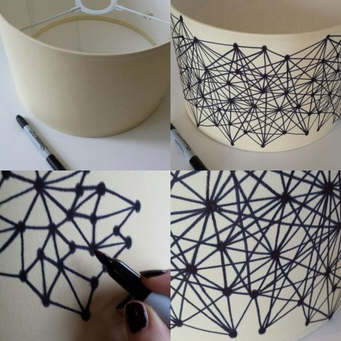 Sharpie pen lampshade diy home inspire pinterest sharpie pens sharpie pen lampshade diy aloadofball Image collections