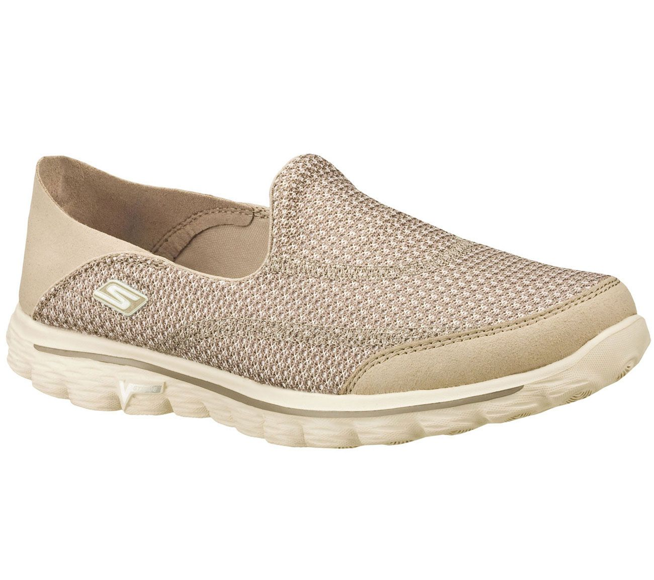 skechers go walk 2 mens mesh slip on shoes