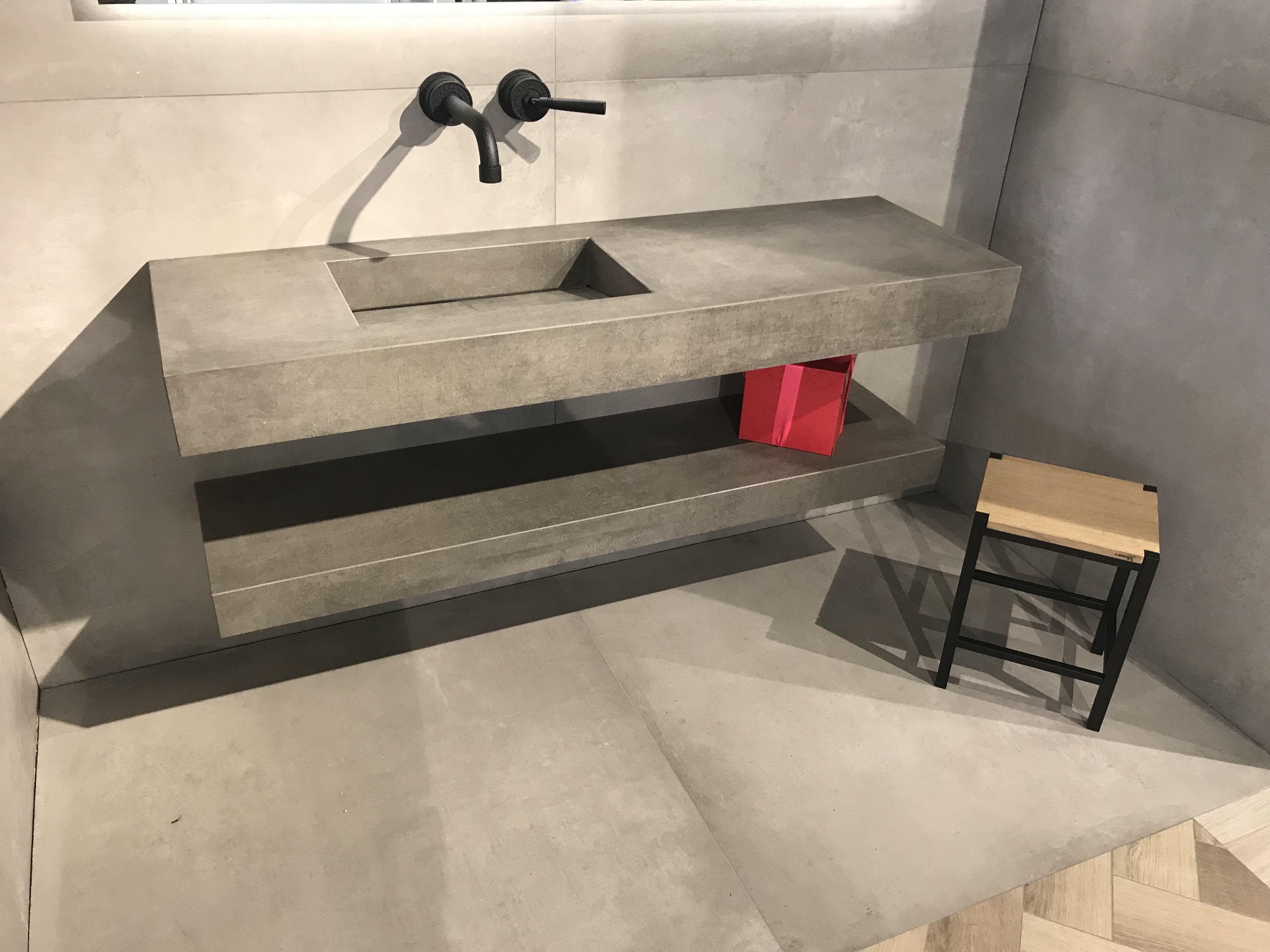 Jee O Wastafel : Kronos betonlook wastafel sandalo prima materia met kraan jee o soho