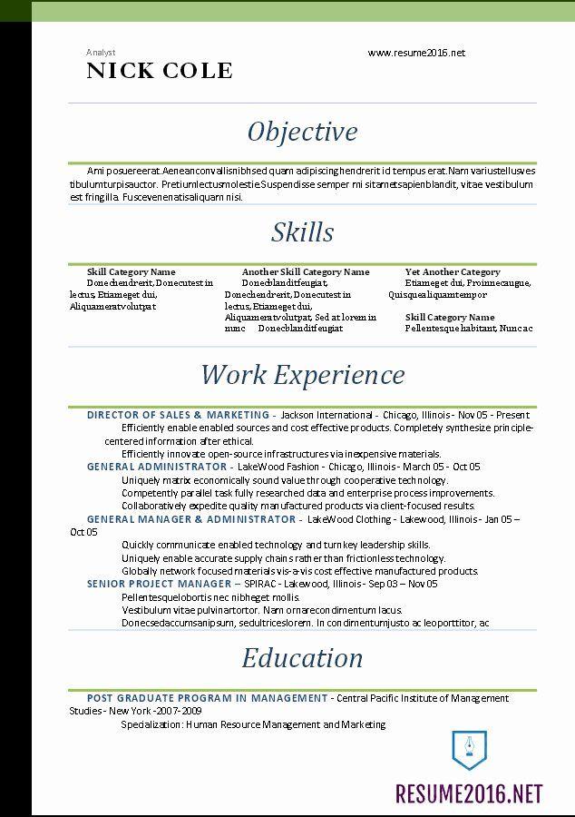 Best Free Resume Templates 2016 Lovely Word Resume
