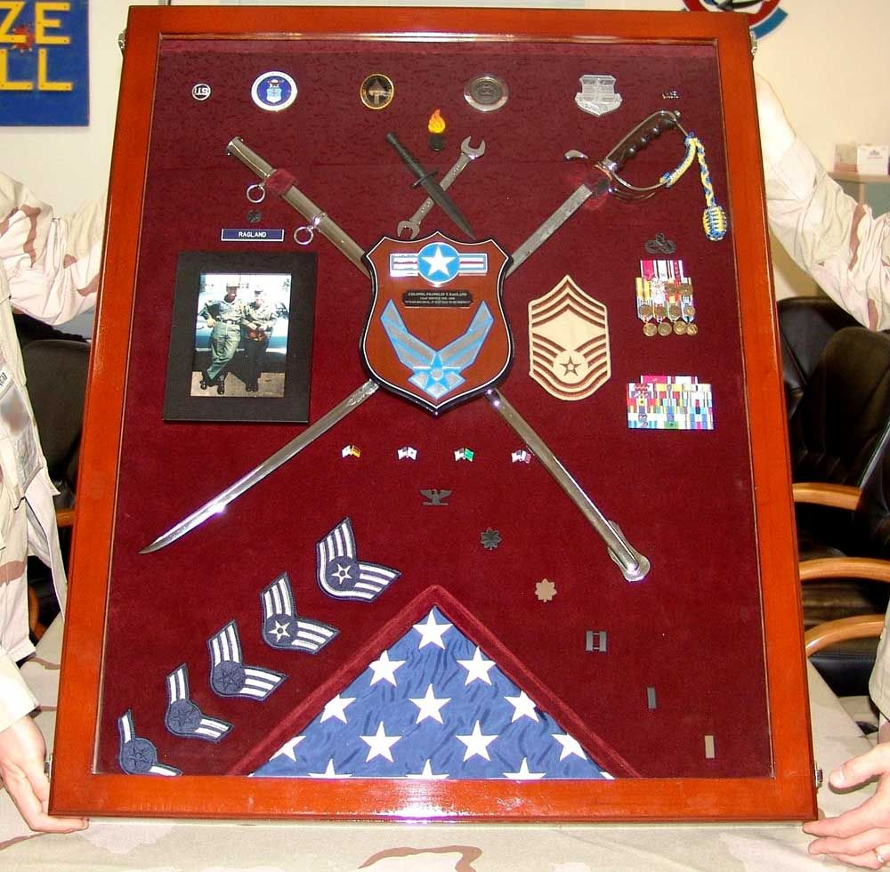 Custom Shadowbox For An Air Force Chief Master Sergeant