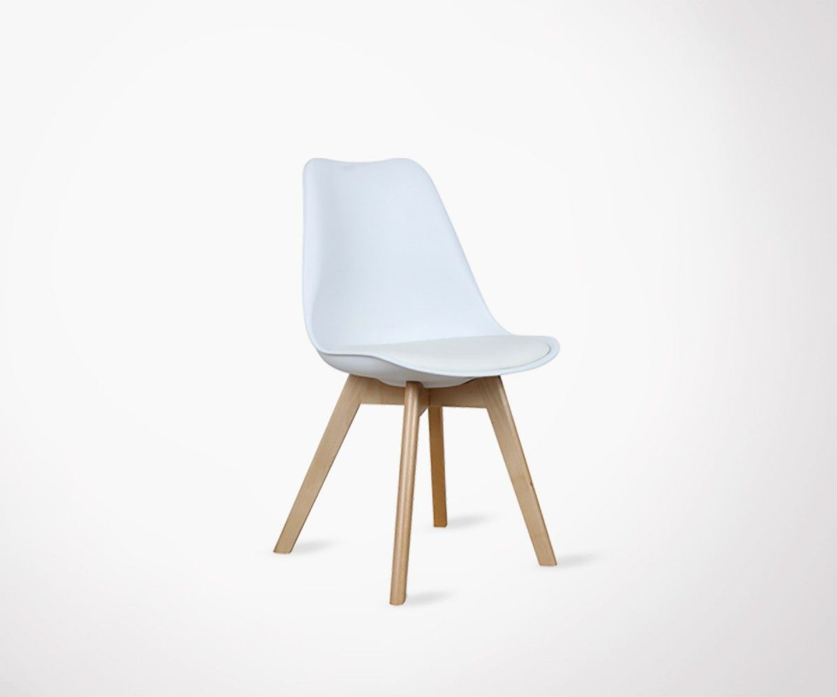 chaise scandinave design assise rembourree plusieurs couleurs