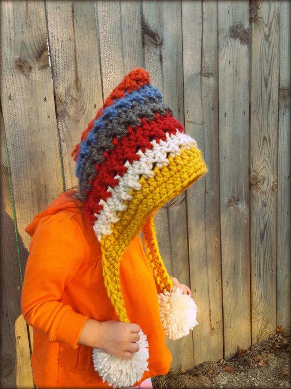 Baby Bonnet Pixie Hat, Crochet Bonnet Pattern, Childrens Hat, Pixie ...