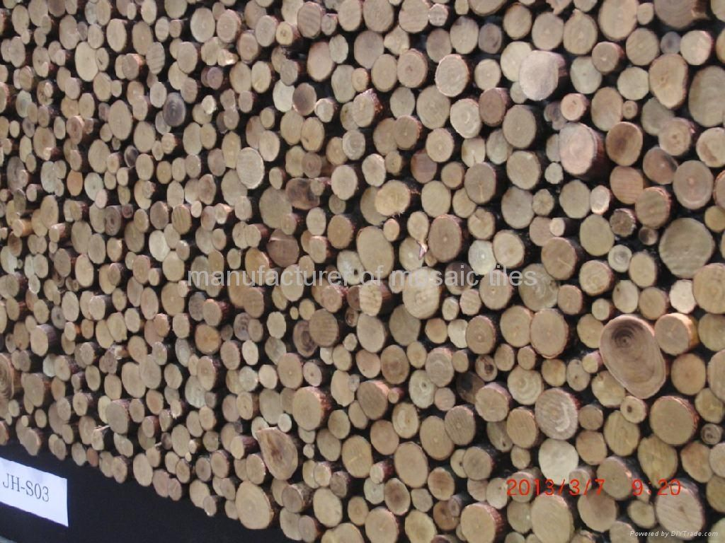 Wood Wall Design round design home decoration wooden wall panels - jh-s03 - gimare
