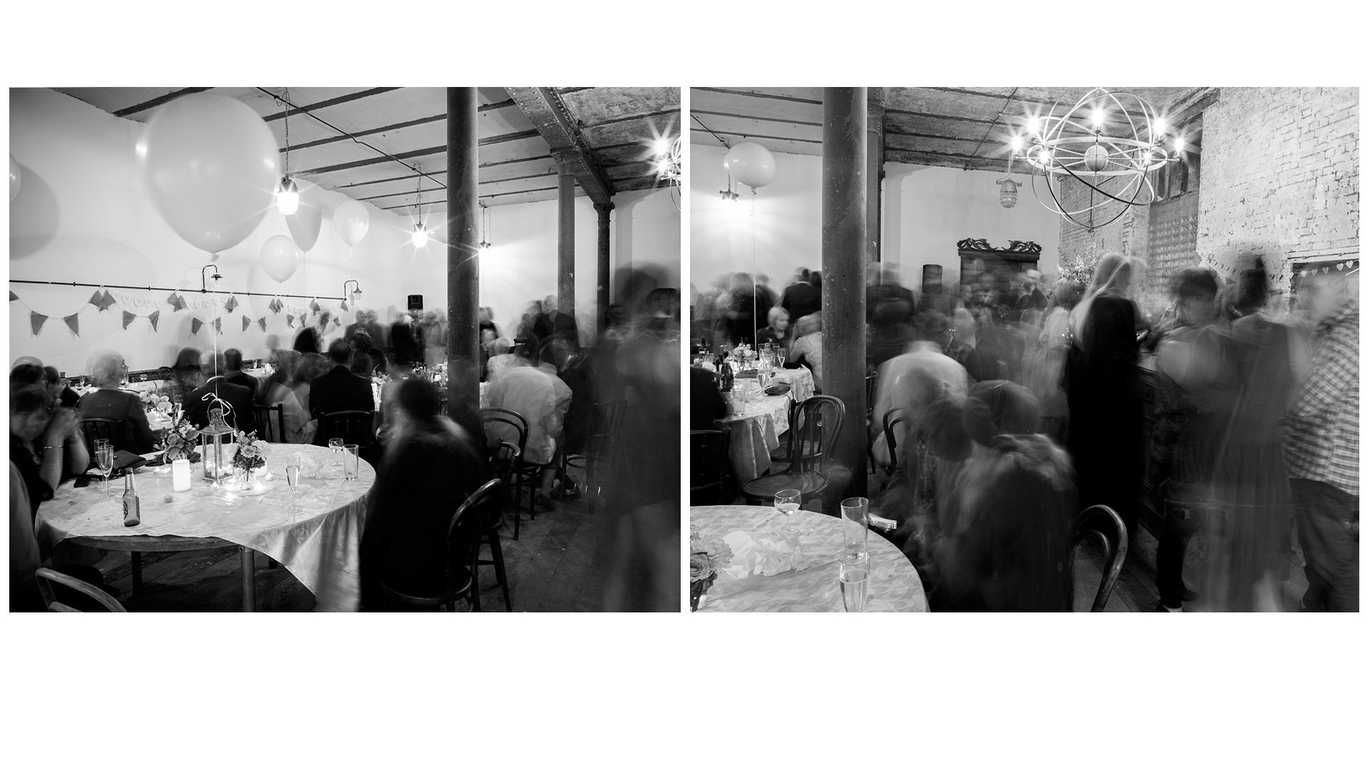 Vintage Wedding space... cool faded glamour in amazing space high ceilings steel columns....