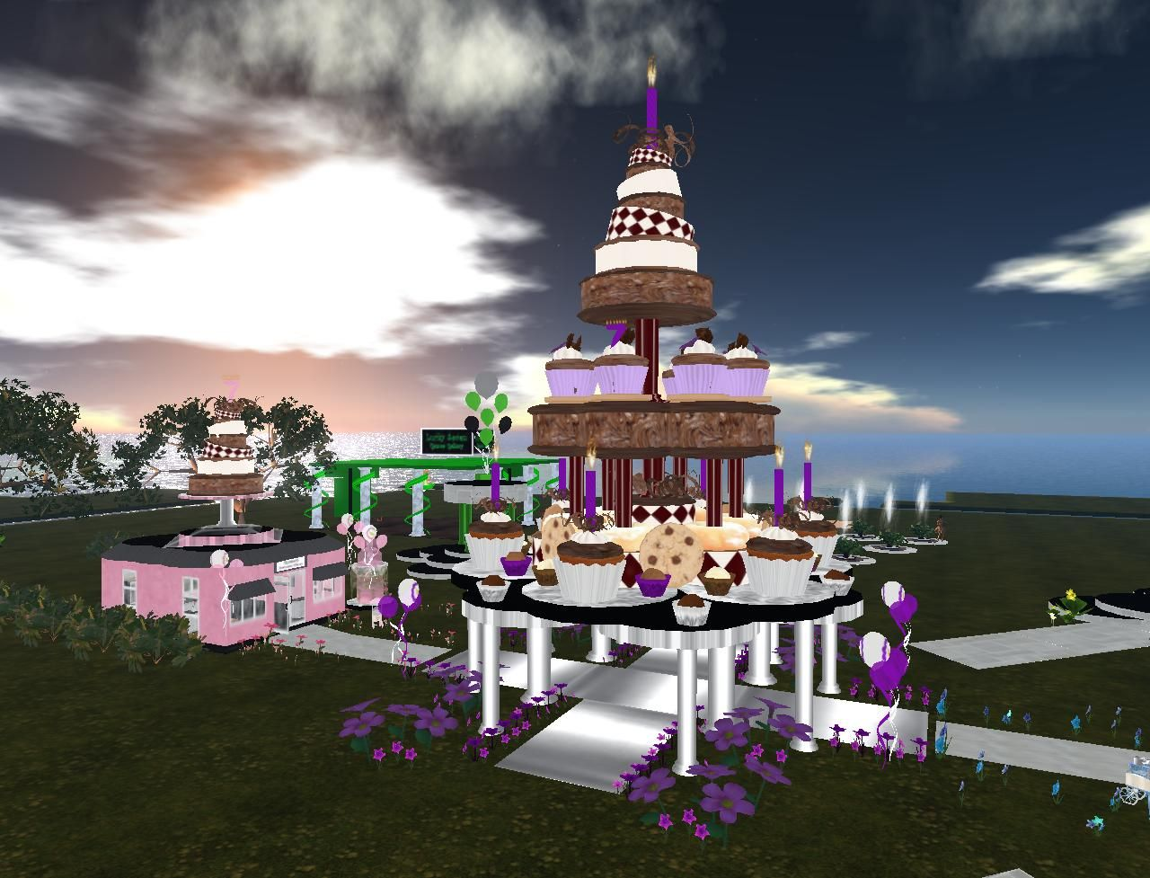 The Candy Store Is Open  SLB Big Birthday Cake Candy Store - The biggest birthday cake