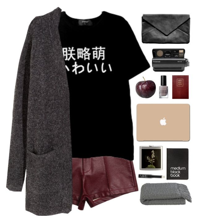 """""""You only have eyes for that blue, blue sky//"""" by nandim ❤ liked on Polyvore featuring H&M, 3M, Bobbi Brown Cosmetics, Sloane Stationery, Polaroid, Crate and Barrel, Dinks and NARS Cosmetics"""