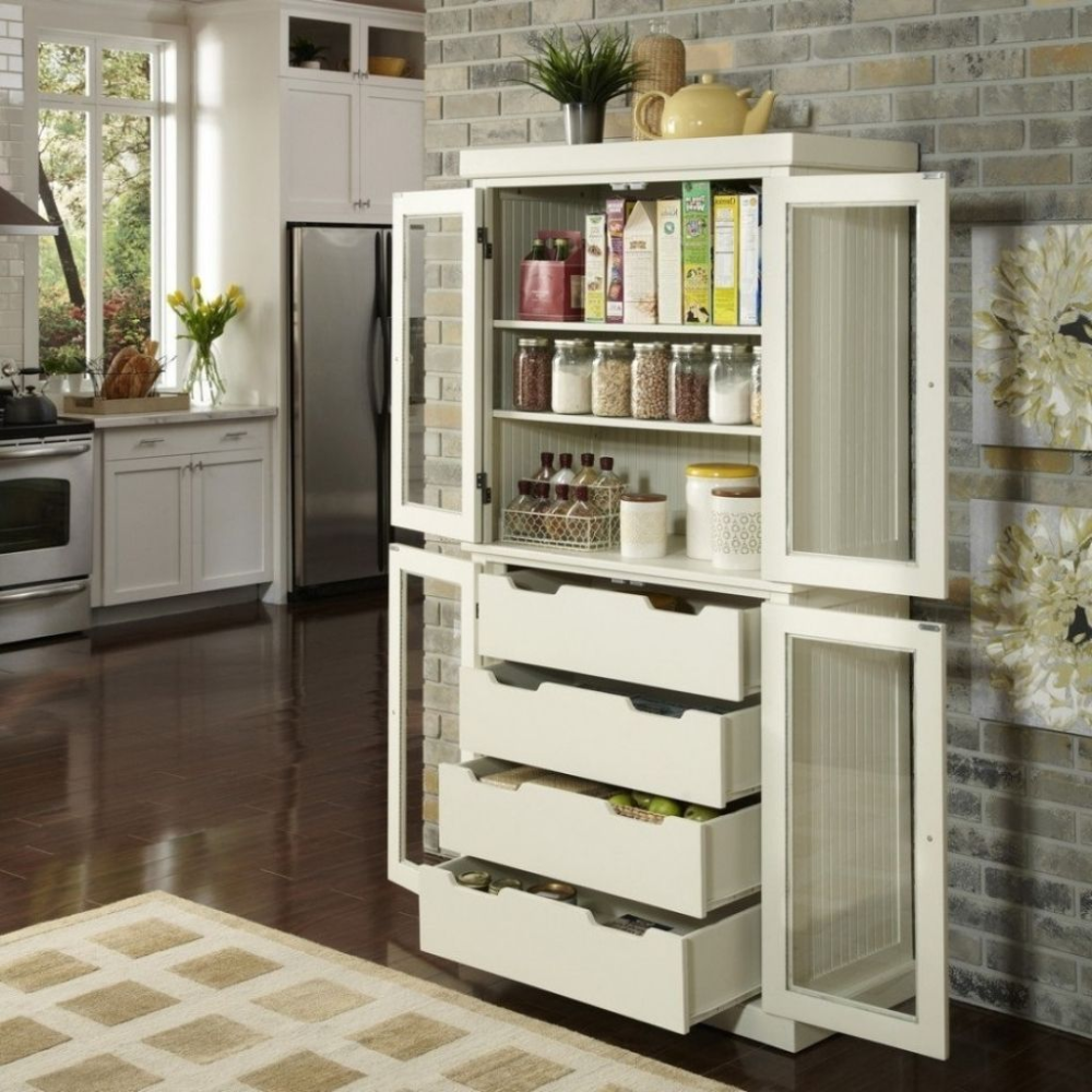 Picture of Free Standing Kitchen Pantry Storage Cabinets ...