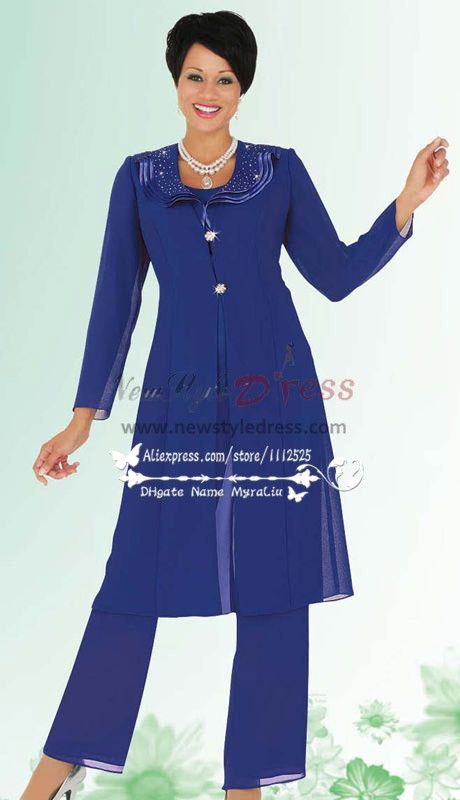 Royal blue chiffon pant suit for the grandmother of the bride nmo ...