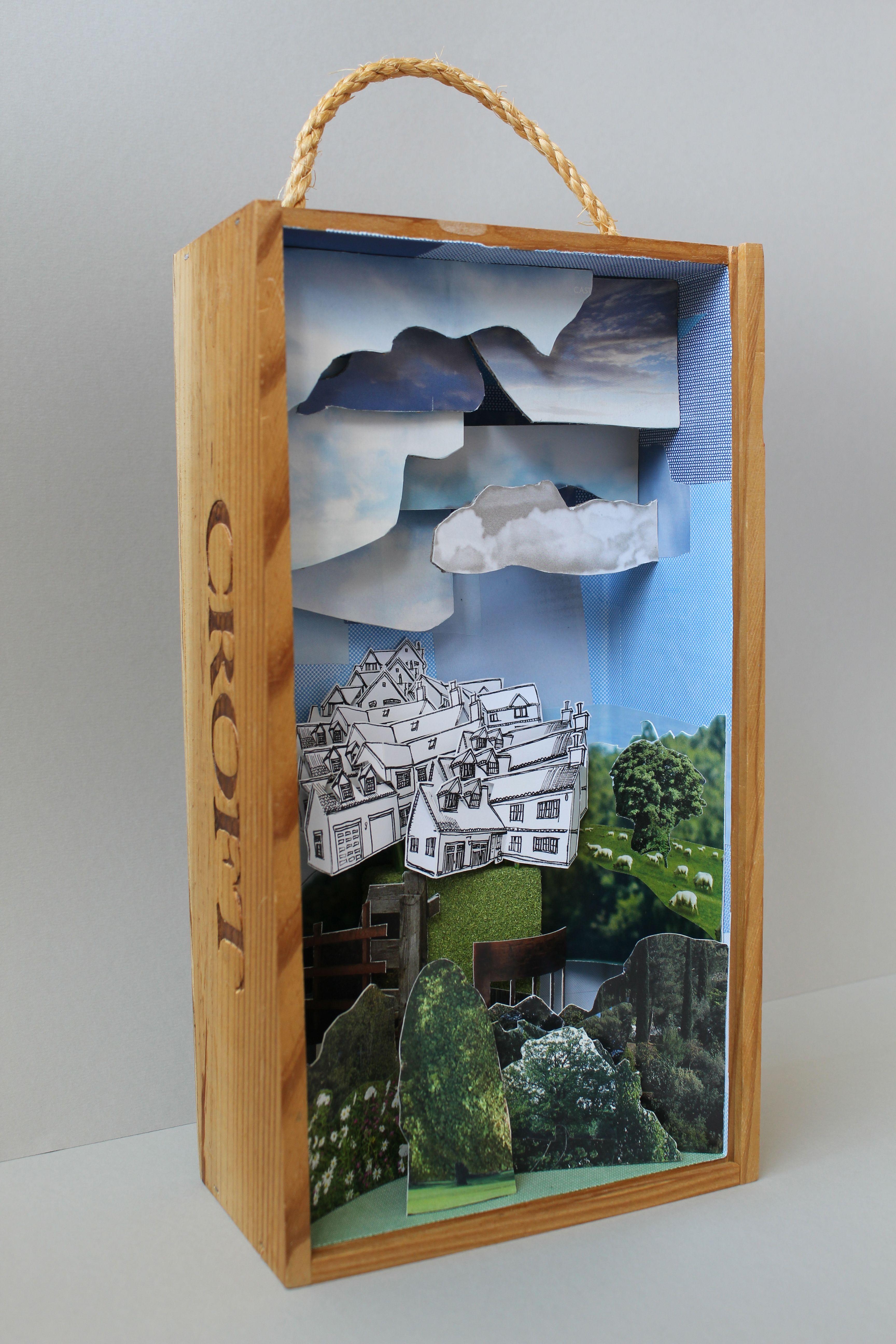 Mandy Bray | 'Croft', box sculpture, mixed media, 2014.