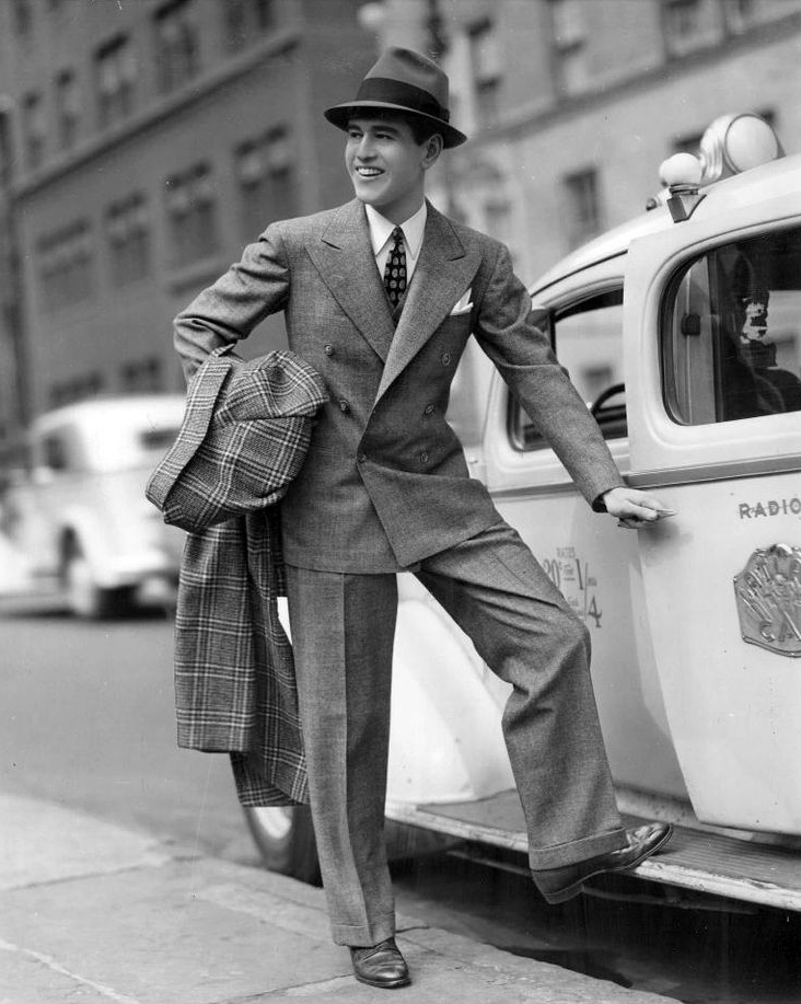 40s 50s Mens Suit Double Breasted Jacket Pants ChatterBlossom Friday Photo Swoon Snappy Dressed