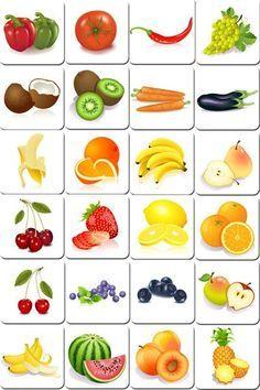 Frutas y verduras:
